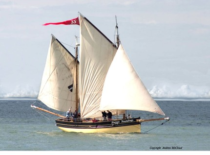 Our Boys – Cornish Lugger built 1904 by Pearce, Richard, East Looe. Thanks to Emerald Laing, National Historic Ships Coordinator of the National Maritime Museum and the owners of Our Boys for their permission to allow Sturgis Soundings Magazine to use their exquisite vessel as our logo. Last but not least, thanks to Pete Richenburg for working his Photoshop magic on the banner and bow.