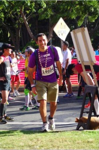 Elie Rabinowitz -Crosses Hawaii Finish Line