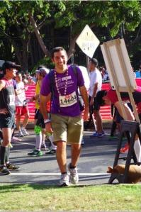 Elie Rabinowitz -Crosses Hawaii Finish Line