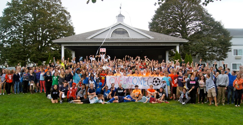One Day - One Goal 2012East and West Campuses Celebrate International Peace Day on Hyannis Village GreenPhoto by Joel Tallman