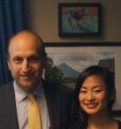 Senator Dan Wolf and Lily Haselton at Statehouse Exhibit