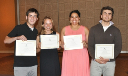 Sturgis West School Spirit and Navigator Awards (l-r) Connor Mahoney , Beth Wahle, Ali Waithe and Charley Grossman