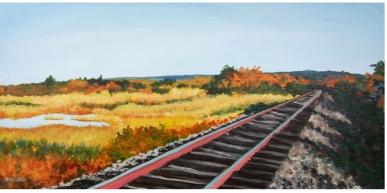 West Barnstable Rails by Nancy Devine