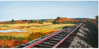 West Barnstable Rails by Nancy Devine