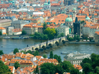 An aerial view of Prague Photo credit: Katie Curran