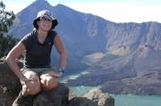 Ellen Boucher  at Mt Rinjani, Lombok, Indonesia