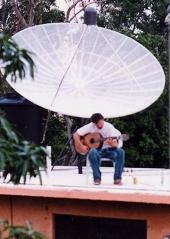 Jeff Hansen, Guitarist on the Roof in Boqueron, Puerto Rico