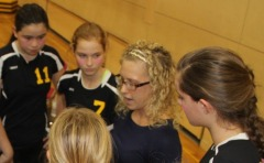Lindsey Weaver with Volleyball Team