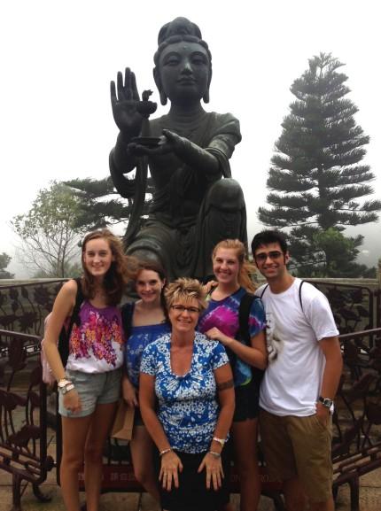 Marsha Yalden and Students in Hong kong