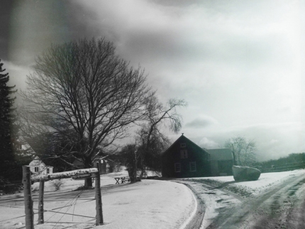 Picture of the farm in winter time