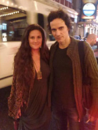 Sophia Braddel with actor Christian Camargo