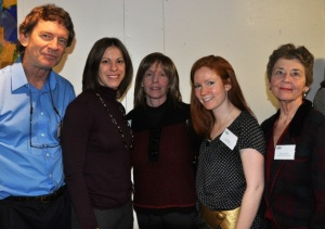 Randy Carspecken, Tonya Weimer, Sheila Gilligan, Claire Shea and Diane Klaiber at Cape Cod 5 Reception