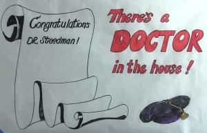 Congratulations Dr