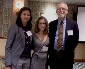 Divya Johar,  Molly Brennan  Ralph Tolbert, Co-Chair of MIT Club of Cape Cod Education Committee.
