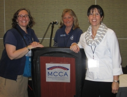 Gina Kelly, Deirdre A. Detjens and Andrea Higgins at NSTA Conference