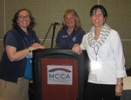 Gina Kelly, Deirdre A. Detjens and Andrea Higgins at NSTA Conference