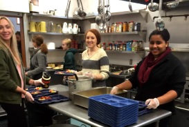 Sturgis Students Serving Lunch at Salvation Army