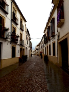 The narrow, cobblestone streets of Córdoba