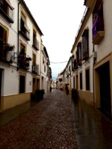 The narrow, cobblestone streets of Córdoba