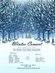 West Winter Concert Poster