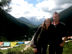 Christine and John in a Tibetan area