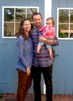 Christine, John, and Olive in Nantucket