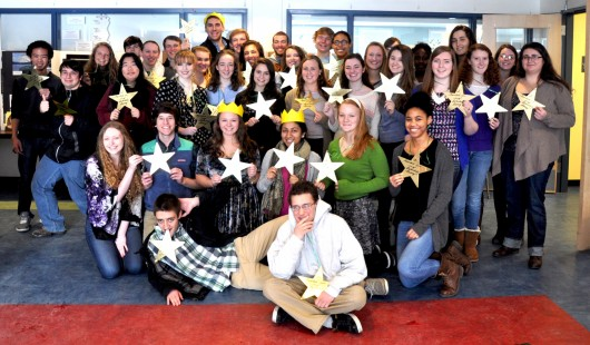 A Gold Star Tradition and Rite of Passage West seniors celebrate the completion of their Extended Essays.