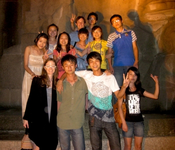 John and Christine with some of their students at Chongqing Three Gorges University in Wanzhou, Chongqing, China