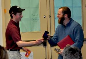 Matt Cappucci presents award to Mr.DA