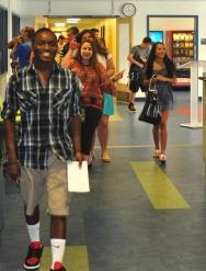 West hallways on Opening Day