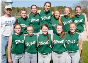 West Girls Varsity Softball Team 2015