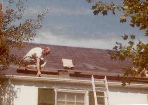Roofing the Scotch Plains House