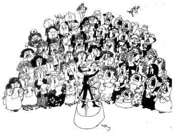 Charles Bihler Conducting - Cartoon by Gerald Hoffnung-1
