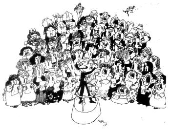 Charles Bihler Conducting - Cartoon by Gerald Hoffnung-1