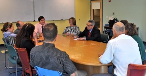 Commissioner Chester Meets with Sturgis Faculty