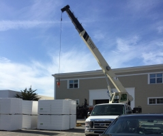 Installation of new roof at East Campus