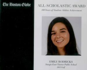 Emily Rodricks - Boston Globe Award
