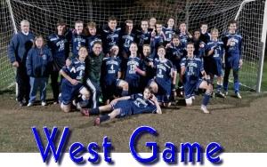 Varsity Soccer East - WEST GAME