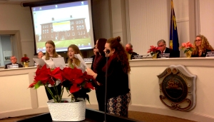 West Singers perform for Town Council