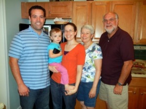 Eric, his wife, daughter, grand daughter and son-in-law