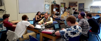 Aaron Dunigan AtLee works with EE students