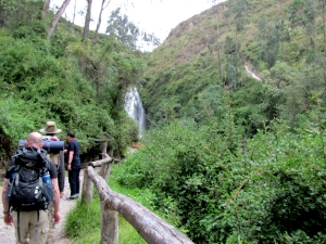 Hiking our way to Pegucha Falls in Otovalo