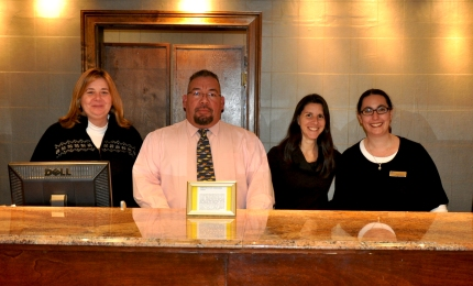 Resort and Conference Center Staff (l-r) Leeanne Moulthrop, Johnny Tromp, Jennifer Palazzolo and Andrea Kaner
