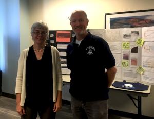 NOAA Roundtable Colleen Coogan, NOAA's Education coordinator and Pete Sampou