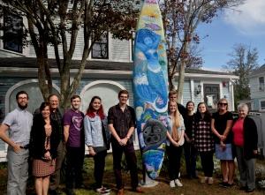 Sailboard Community Art Installment Ceremony