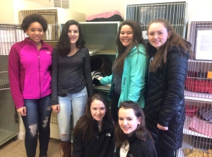 Key Club members donate to MSPCA